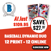 GET Dynamic Duo Baseball (1 Year Online Price Guide + Print Magazine Subscription ) for just $109.95