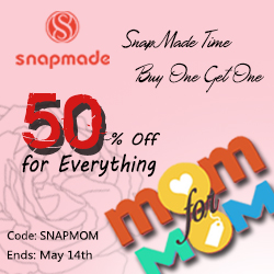 Snapmade 2017 Mother's Day: 50% Off for Everything-250*250