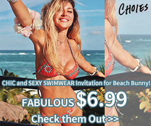 CHIC and SEXY SWIMWEAR Invitation for Beach Bunny! FABULOUS $6.99