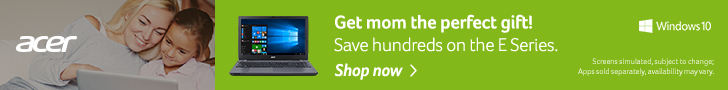 Acer Mothers Day Savings - perfect gift