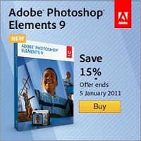 Adobe Photoshop Elements 9 & Adobe Premiere Elements 9 - 30% off full version and 15% off upgrade version