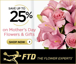Save up to 25% on flowers for Mother's Day 300 x 2