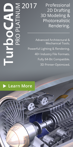TurboCAD Professional Platinum - advanced architectural and mechanical design tools.