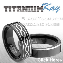 Unique black tungsten carbide men's rings