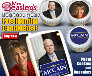 McCain-Palin Cupcakes and Cookies from Mrs. Beas
