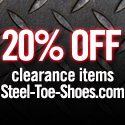 Save BIG at Steel-Toe-Shoes.com's Clearance Aisle