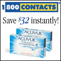 Great savings on Acuvue lens, save now!
