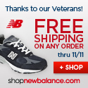 Free Ship at Shop New Balance 11/3-11