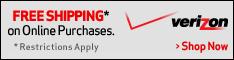 Verizon Wireless free Shipping Banner