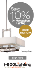 Take 10% Off Metropolitan Items with code METRO10 + Free Shipping over $49 at 1800lighting.com!