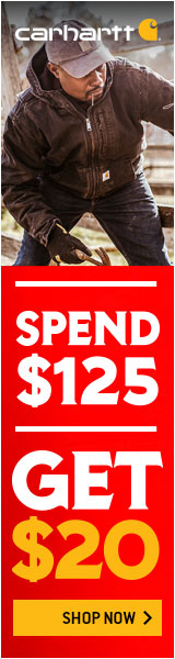 SPEND & GET at Carhartt! Spend $125 & Get $20 IN CARHARTT BUCKS