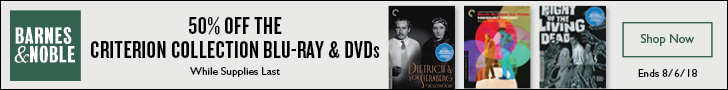 50% Off Criterion Collection Blu-ray and DVD