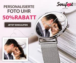 SoufeelPersonalisierte Foto Uhr, 50% Rabatt!
