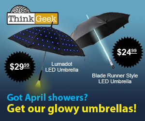 ThinkGeek Glowy Umbrellas