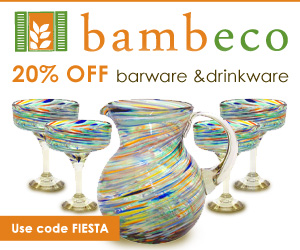 Save 20% on Recycled Glassware