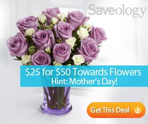 saveology save on flowers save 50%