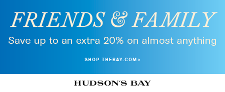 (9/19-9/21) Friends & Family - Up to 20% off sitewide at TheBay.com