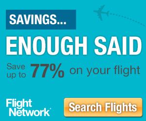 Savings! Enough Said. Save up to 77% on Your Flight!