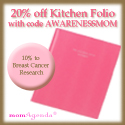 20% off Pink Kitchen Folio at momAgenda PLUS 10% t