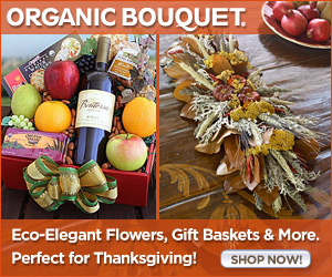 Festive Thanksgiving Gourmet Gift Baskets, Wreaths