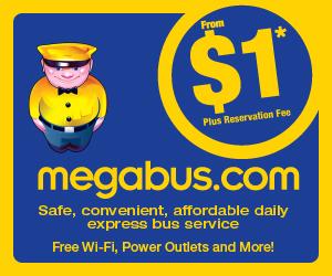 megabus tickets staring at 99 cents!