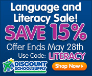 15% Off Language & Literacy School Supplies