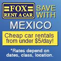 Cheap car rentals in Mexico @ Fox