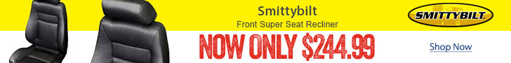 INSTANT $45 rebate on Smittybilt Front Super Seat Recliner Jeep seats.