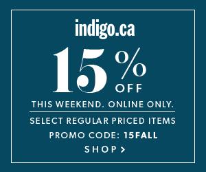 Take 15% Off Regular Priced Decor, Style & More at Indigo.ca!