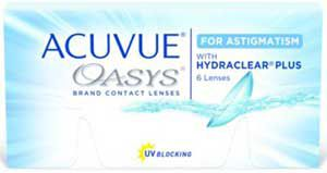 $70 off Acuvue Oasys for Astigmatism when you buy 8 boxes + free shipping!
