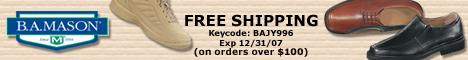 Free Shipping at BAMason.com