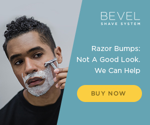 Picture of black man having a smooth shave