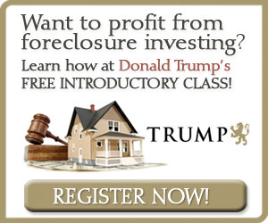Free Trump Foreclosure Investing Classes