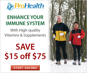 Save $15 off $75 at ProHealth.com