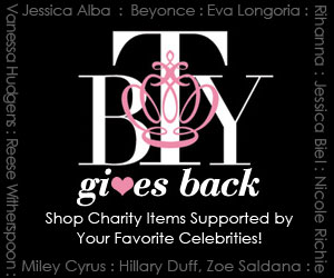 BTY Gives Back - Celebrity Endorsed Charity Items