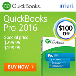 Intuit QuickBooks Coupon codes for $50 off QuickBooks Pro 2015 plus free shipping
