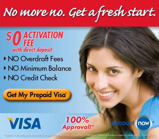 Get a fresh start with an AccountNow Prepaid Visa