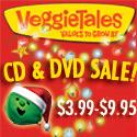 VeggieTales DVD & CD Sale $3.99-$9.95