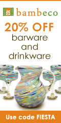 Save 20% on Eco-friendly  Barware and Glassware