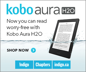 The NEW Kobo Aura H2O. Now you can read worry-free with Kobo Aura H2O.