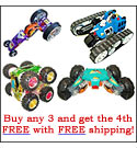 Buy one of each RC cars get the fourth free.