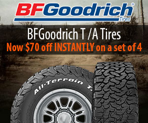 $50 off INSTANTLY on a set of 4 BFG Tires