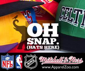 Mitchell & Ness NBA, NFL and NHL Snapback Hats