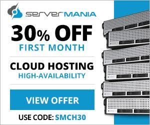 30% off ServerMania Cloud Servers