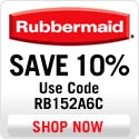 Save 10% at Rubbermaid.com - Use code RB152A6C