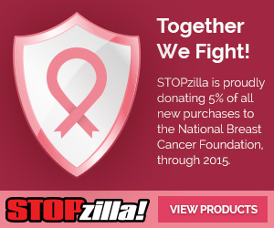 STOPzilla is proudly donating 5% of all new purchases to the National Breast Cancer Foundation