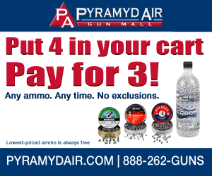 Buy 4 of any ammo, pay for 3! Lowest priced ammo is free.
