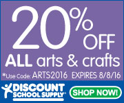 Save 20% Off ALL ARTS & CRAFTS Products & Get Free Shipping On Orders Over $99!