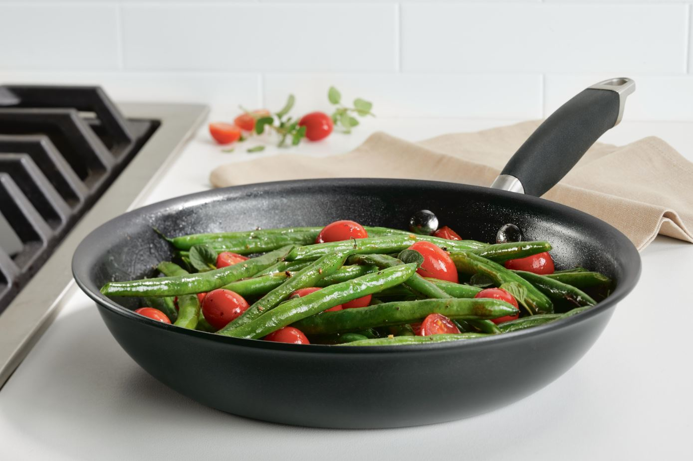 Anolon Advanced Home Skillet with Veggies in Onyx