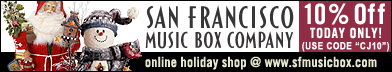 Click here for 10% Off at San Francisco Music Box